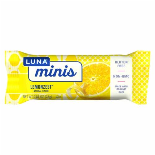 Luna Minis Lemonzest Snack Size Nutrition Bars Perspective: back
