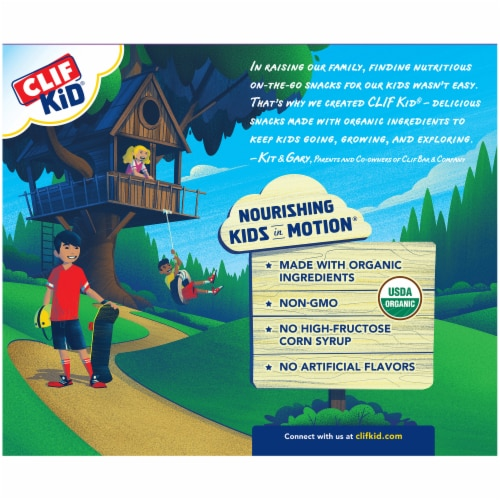 Clif Kid Zbar Organic Chocolate Chip Baked Whole Grain Energy Snack Bars Perspective: back