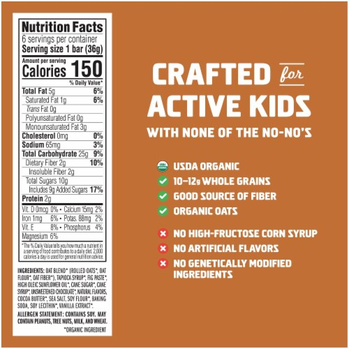 Clif Kid Zbar S'mores Baked Whole Grain Snack Bars Perspective: back