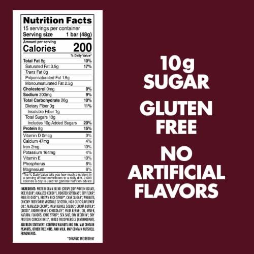 Luna Caramel Walnut Brownie Whole Nutrition Bars Perspective: back