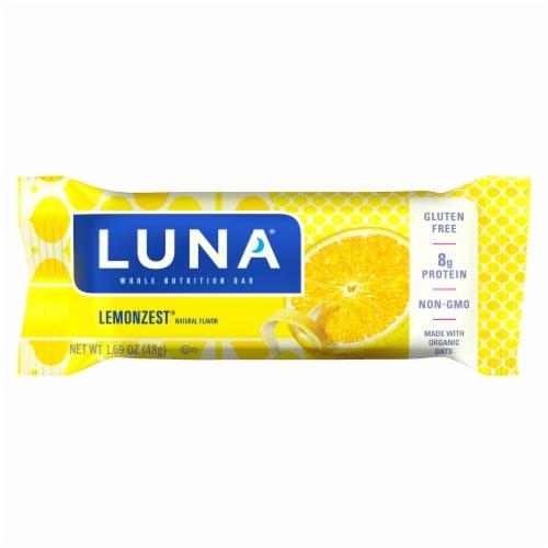 Luna Lemonzest Whole Nutrition Bars Perspective: back