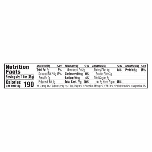 Luna Tangerine Zest Nutrition Bar Perspective: back