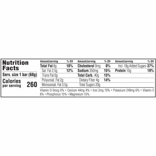 Clif Bar Sweet & Salty Chocolate Peanut Butter with Sea Salt Energy Bar Perspective: back