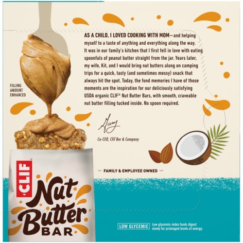Clif Bar Nut Butter Filled Coconut & Almond Butter Energy Bars Perspective: back
