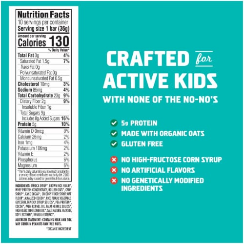 Clif Kid ZBar Protein Chocolate Mint Snack Bars Perspective: back
