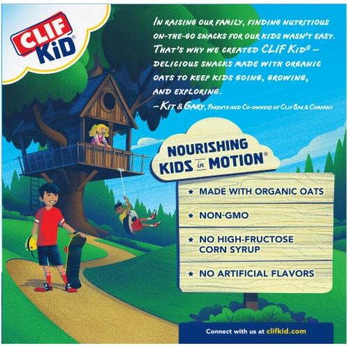 Clif Kid ZBar Protein Cookies n Creme Whole Grain Crispy Snack Bars Perspective: back