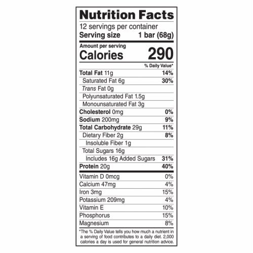 Clif Bar Builders Cinnamon Nut Swirl Protein Bars Perspective: back