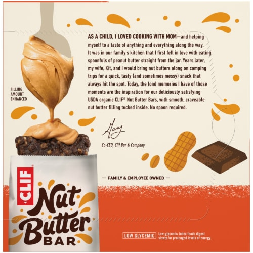 Clif Bar Nut Butter Filled Chocolate & Peanut Butter Energy Bars Perspective: back