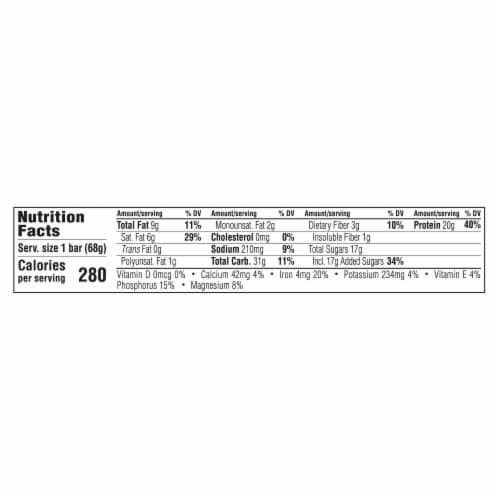 Clif Bar Builders Chocolate Protein Meal Bar Perspective: back