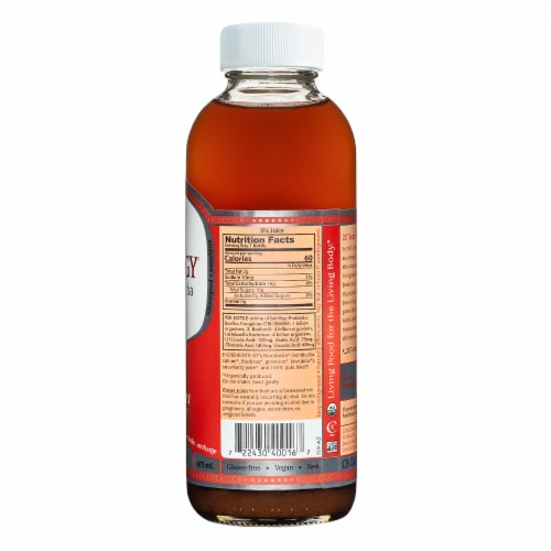 GT's Living Foods Synergy Organic Strawberry Serenity Kombucha Perspective: back