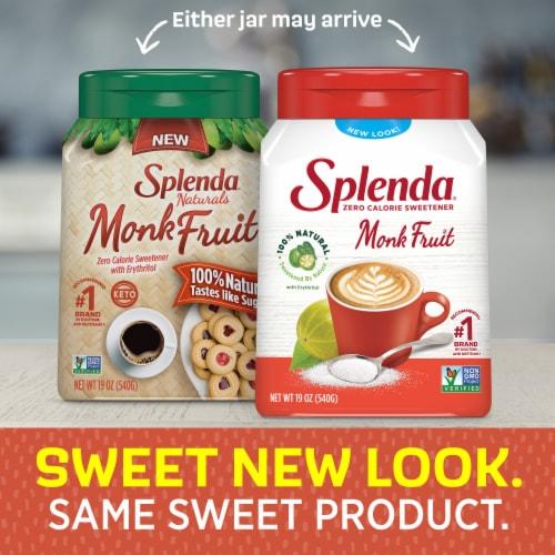 Splenda Naturals Monk Fruit Zero Calorie Sweetener Perspective: back