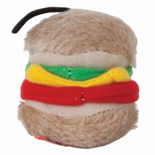 Aspenpet Small Hamburger Plush Dog Toy Perspective: back