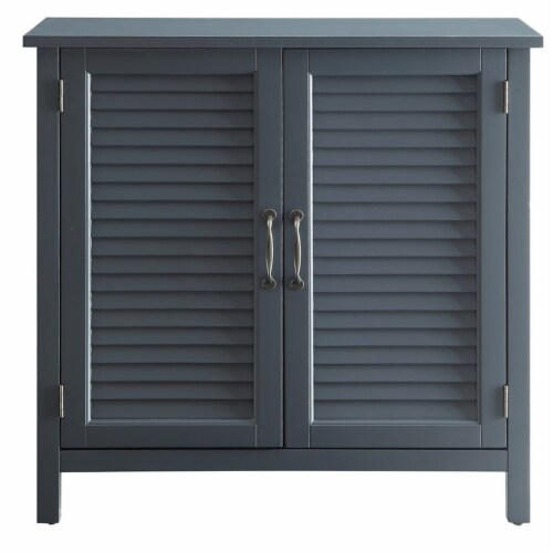 Belray Home Storage Accent Cabinet with Shutter Doors and Adjustable Shelf, Gray Perspective: back