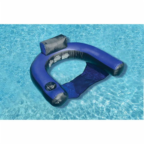 Swimline 90465 Nylon Inflatable Swimming Pool U-Seat Chair Float Lounger Perspective: back