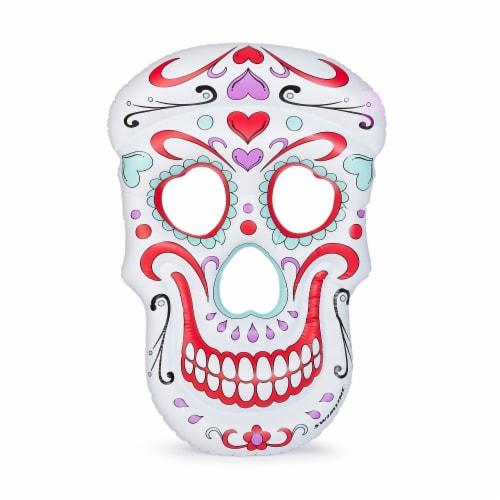Swimline Multi/White Vinyl Inflatable Sugar Skull Pool Float - Case Of: 1; Perspective: back