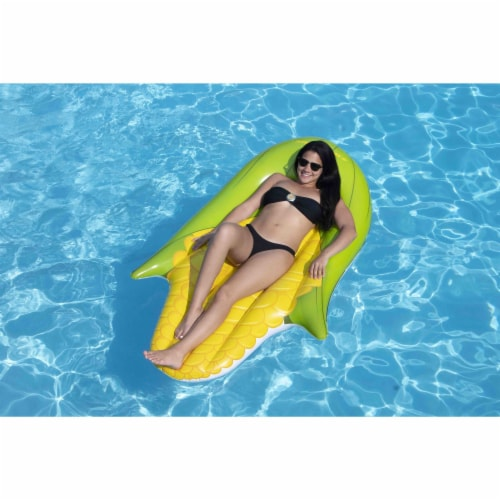 Swimline 90680M Giant Inflatable Corn on the Cob Ride On Swimming Pool Float Perspective: back