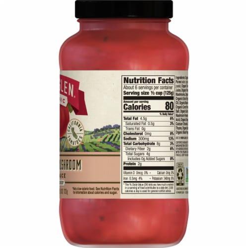 Muir Glen Organic Portabella Mushroom Pasta Sauce Perspective: back