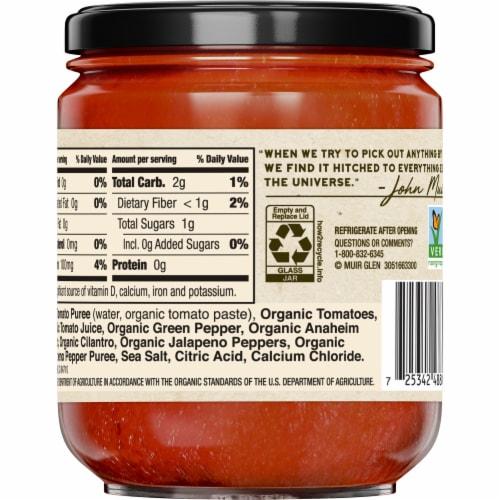 Muir Glen Organic Garlic Cilantro Salsa Perspective: back