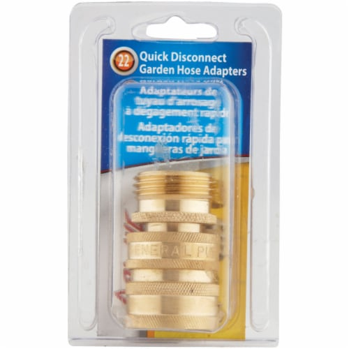 Apache 1 Male, 1 Female Brass Garden Hose Quick Connect Connector Set 44048664 Perspective: back