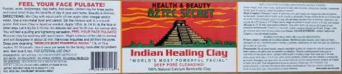 Aztec Secret Indian Healing Clay Perspective: back
