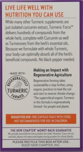 New Chapter Organics Turmeric Force Vegetarian Capsules Perspective: back