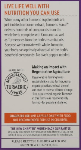 New Chapter Turmeric Force Capsules Perspective: back