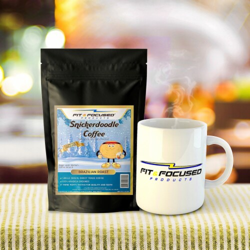 Fit and Focused Snickerdoodle Flavored Ground Coffee Perspective: back