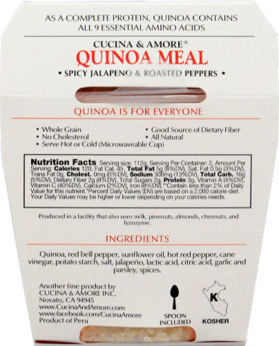 Kitchen & Love Cucina Et Amore Jalapeno & Peppers Quinoa Meal Perspective: back
