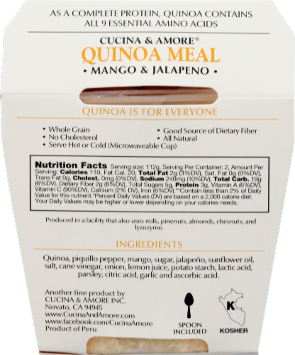 Cucina & Amore Mango & Jalapeno Quinoa Meal Perspective: back