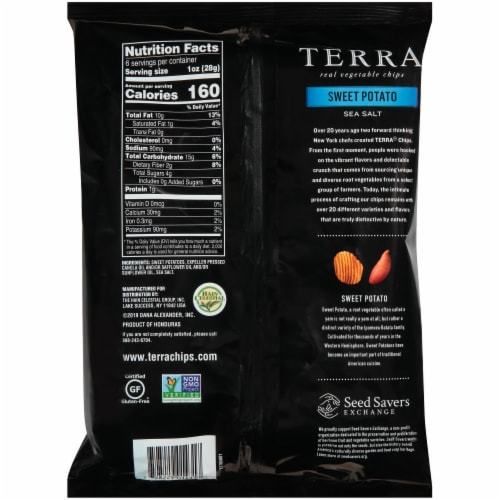 Terra Sea Salt Krinkle Cut Sweet Potato Vegetable Chips Perspective: back