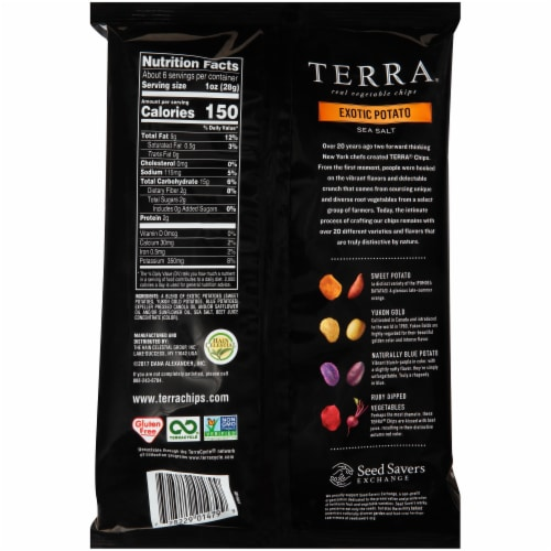 Terra Exotic Potato Sea Salt Vegetable Chips Perspective: back