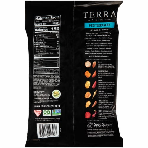 Terra Mediterranean Herbs & A Hint of Lemon Chips Perspective: back