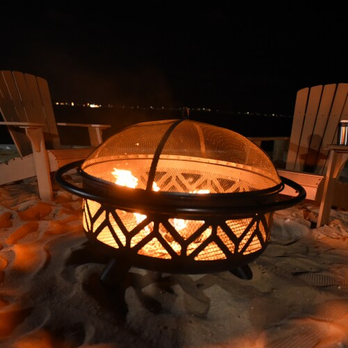 Endless Summer Geometric Design Fire Pit Perspective: back