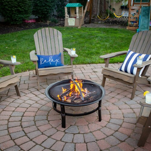 Endless Summer Brushed Copper Wood Burning Outdoor Fire Pit Perspective: back