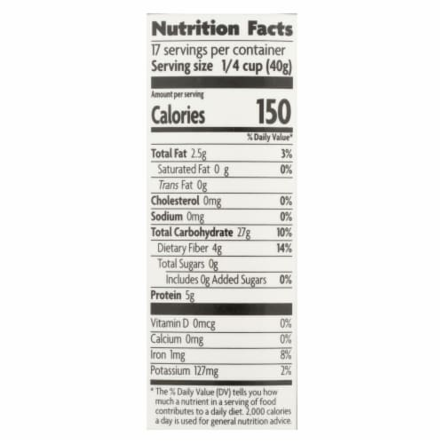 Nature's Path Oats - Organic - Steel Cut - Quick - Case of 6 - 24 oz Perspective: back