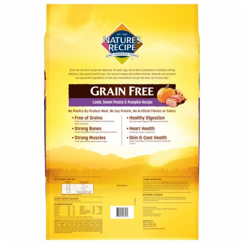 Nature's Recipe Grain Free Easy-to-Digest Lamb Sweet Potato & Pumpkin Dry Dog Food Perspective: back