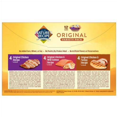 Nature's Recipe Original Variety Pack Dog Food Perspective: back