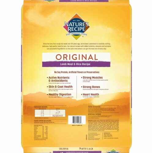 Nature's Recipe Lamb Meal & Rice Protein Dry Adult Dog Food Perspective: back