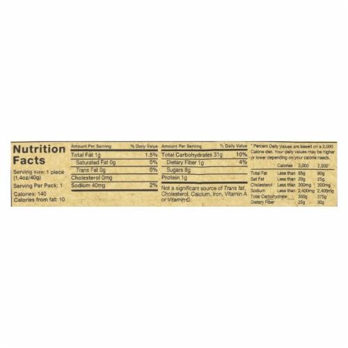 Rj's Licorice Licorice - Raspberry - Soft Eating - Case of 25 - 1.4 oz Perspective: back
