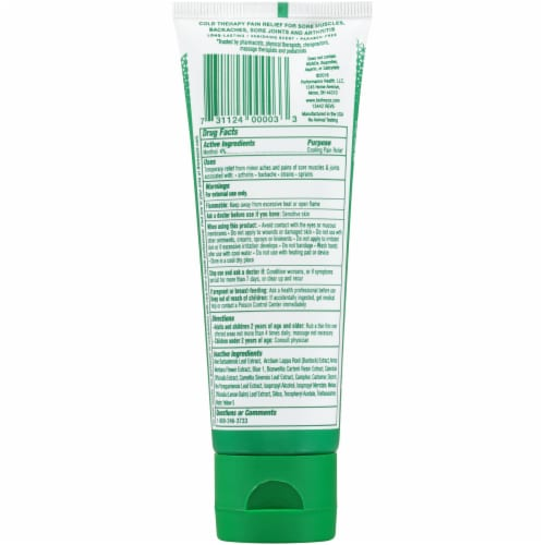 Biofreeze Cold Therapy Pain Relief Gel Perspective: back