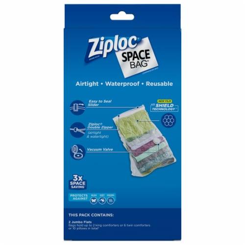 Ziploc Space Bag Bed & Linen Jumbo Flats Storage Bags - Clear Perspective: back