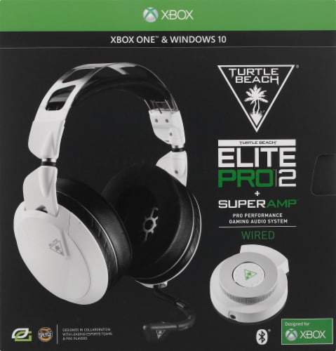 Turtle Beach® Elite Pro 2 + Superamp Pro White Wired Gaming Audio System for Xbox Perspective: back