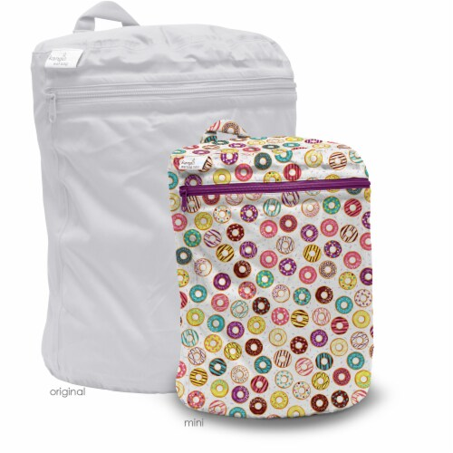 Kanga Care 3D Dimensional Seam Sealed Wet Bag Mini | Frosted Perspective: back