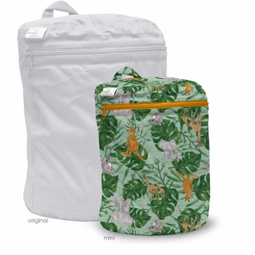 Kanga Care 3D Dimensional Seam Sealed Wet Bag Mini | RooZoo Perspective: back