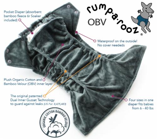 Kanga Care Rumparooz OBV One Size Pocket Cloth Diaper | Zev (6-40lbs) Perspective: back