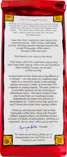Puroast Low Acid Dark French Roast Coffee Perspective: back