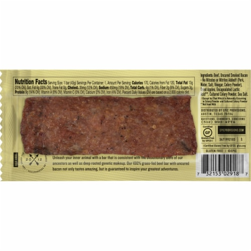 EPIC Beef Apple + Uncured Bacon Bar Perspective: back