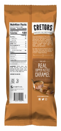G.H. Cretors Caramel Flavored Popped Corn Perspective: back