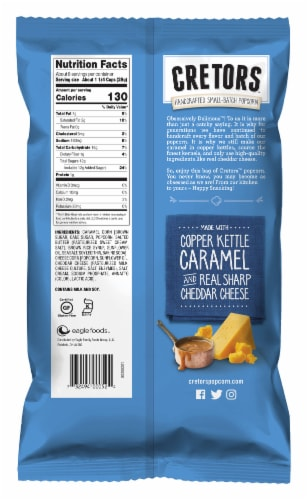 G.H. Cretors Cheese and Caramel Popcorn Mix Perspective: back