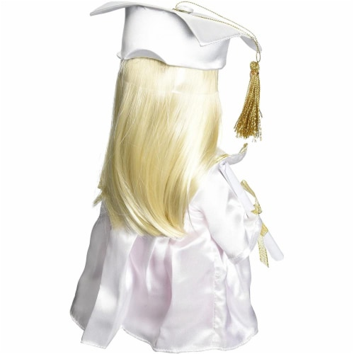 Precious Moments Doll, Graduate, Blonde, 12 inch doll Perspective: back